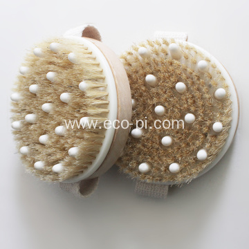 Bamboo Boar Bristles Bath Body Shower Massage Brush
